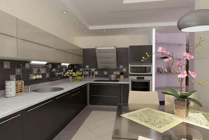Кухня в частном доме, варианты отделки