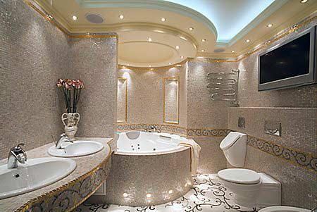 Оформление ванной комнаты, выбор материала