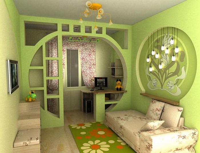 Оформление детской комнаты, идеи интерьера