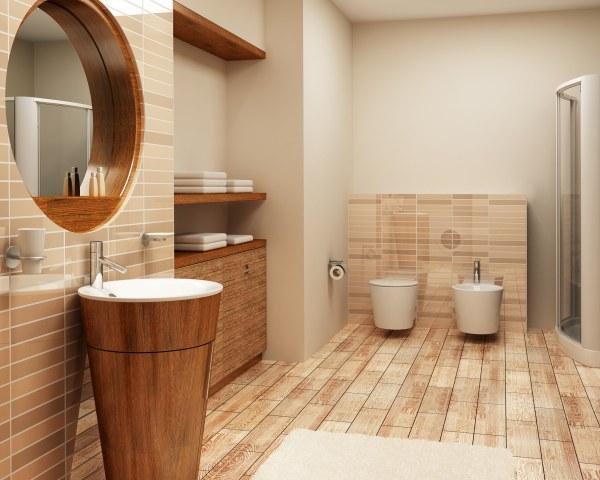 Отделка ванной комнаты деревом: материалы для отделки