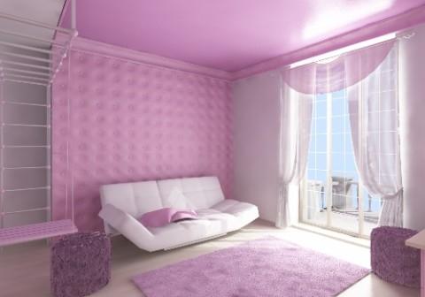 Оформление и декорирование стен тканью