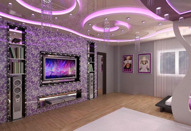 Фото красивого декорирования потолка