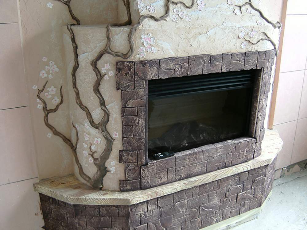 Как можно декорировать камин