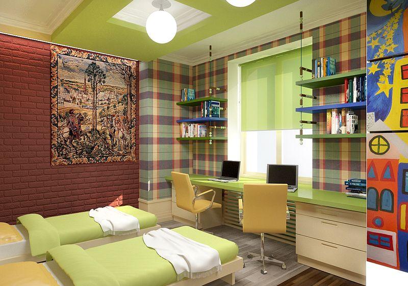 Дизайн комнаты для двух