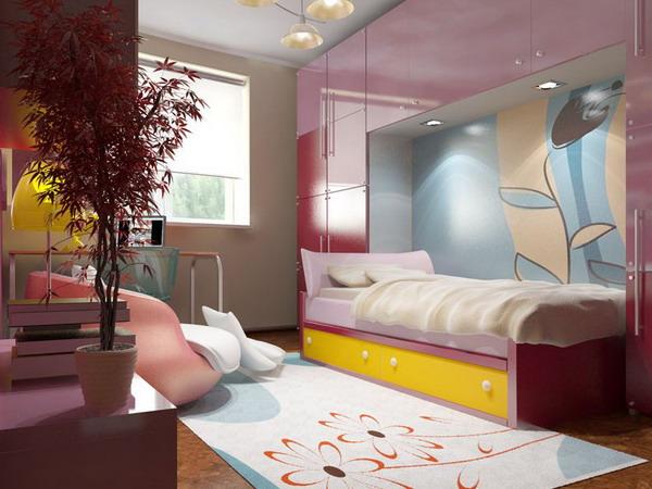 Каким должен быть дизайн спальни для девочек подростков