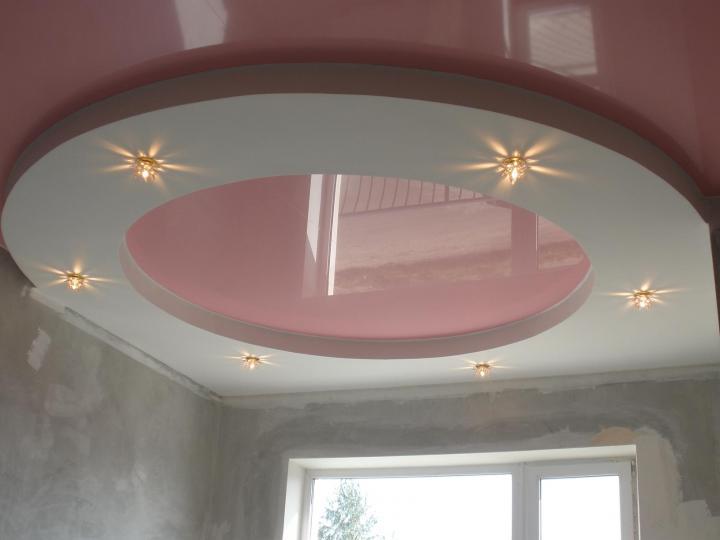 Монтаж потолков из гипсокартона своими руками двухуровневый