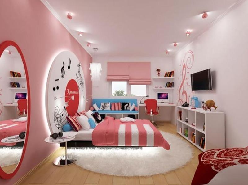 Оформление спальни для девочки подростка