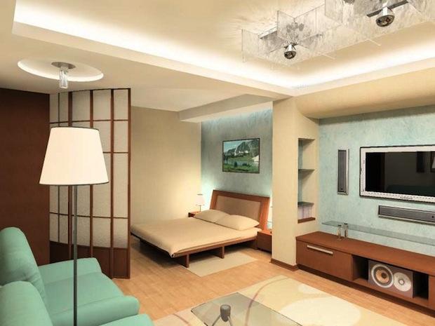 Как оформить спальню в однокомнатной квартире
