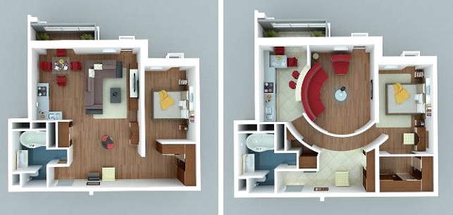 Варианты планировки квартиры студии фото