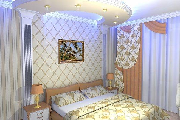 Классическая спальня 3 на 4, фото