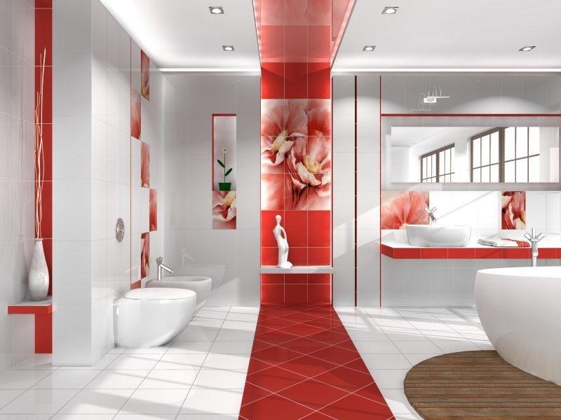 Фото оригинальной отделки ванной комнаты
