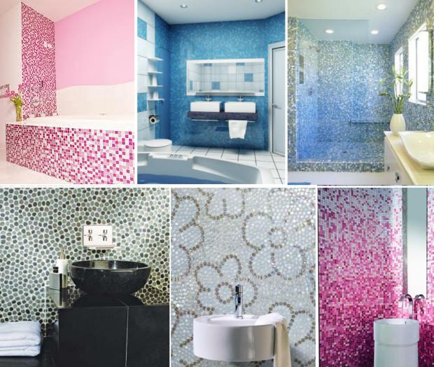 Дизайн и ремонт ванной при помощи мозаики