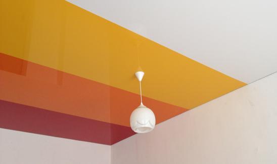 Комбинированные натяжные потолки: виды потолочных конструкций