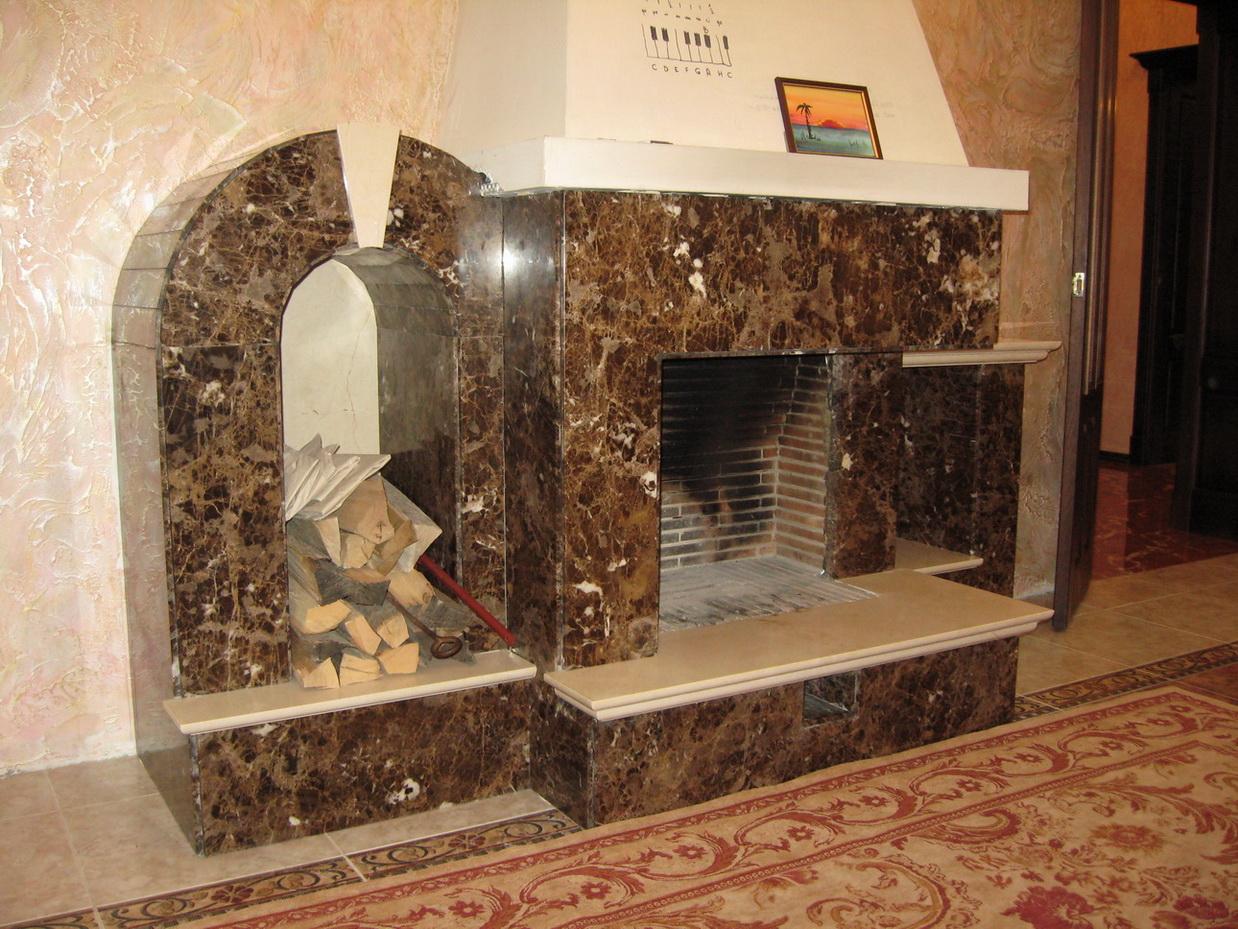 Роскошная мраморная облицовка камина