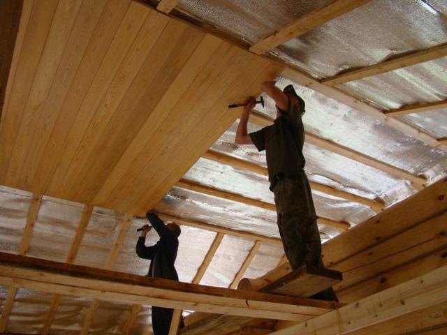 Потолок дома своими руками фото