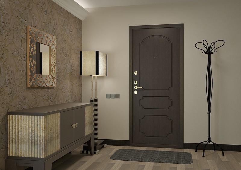 Дверь и проем декорированный МДФ