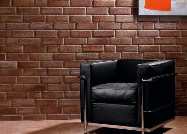 Фото интерьера, оформленного клинкерной плиткой