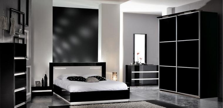 Черно-белый интерьер в вашей спальне