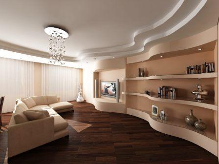Фото оформления помещения при помощи гипсокартона