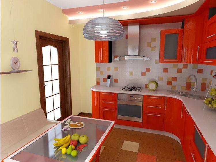 Дизайн и оформление кухни при помощи разных материалов