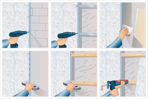 Установка пластиковых панелей своими руками в ванной