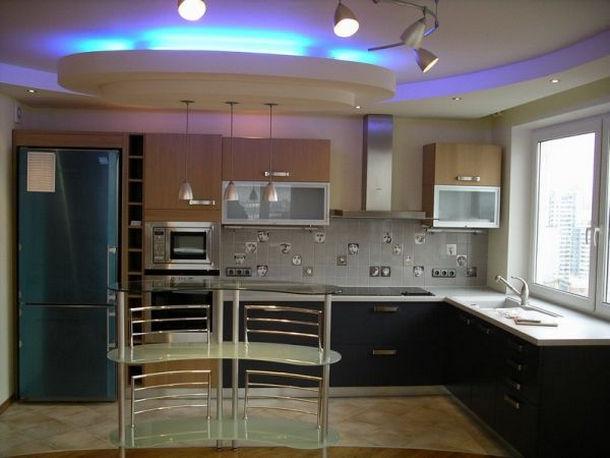 Какой сделать потолок для кухни, выбор материала