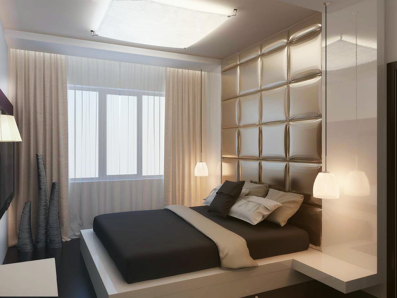 Современный дизайн спальни 2014, пример