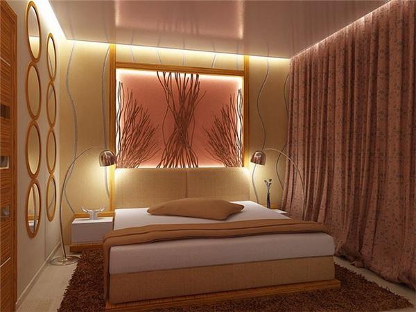 Фото дизайн проекта оформления спальни без окна