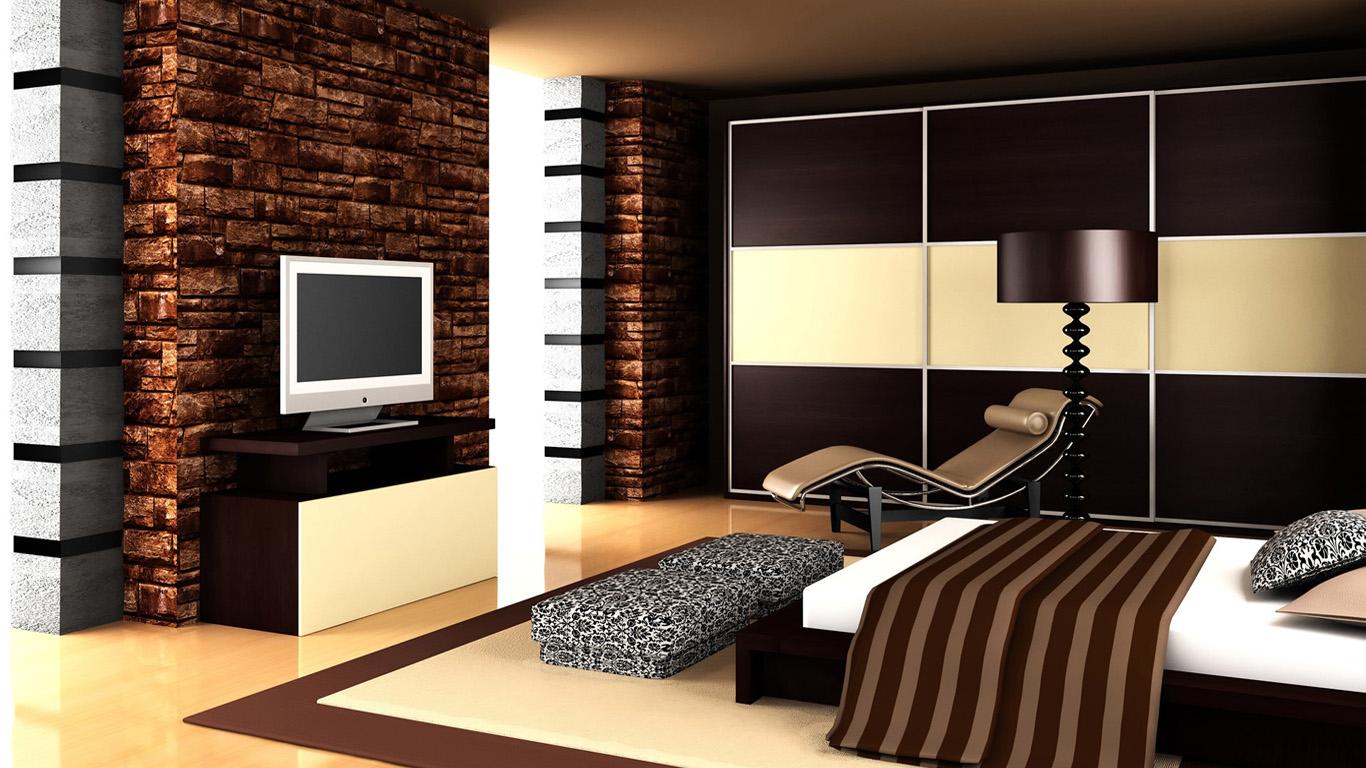 Фото оформления спальни в коричневых тонах