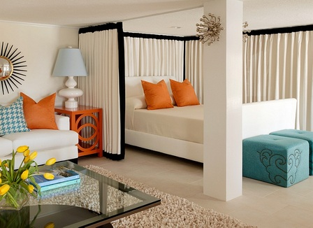 Как оформить зал и спальню в одной комнате